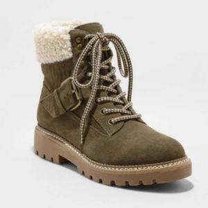 Shoes - Green Combat Boots